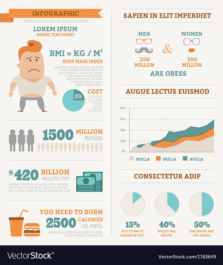 Health infographics vector
