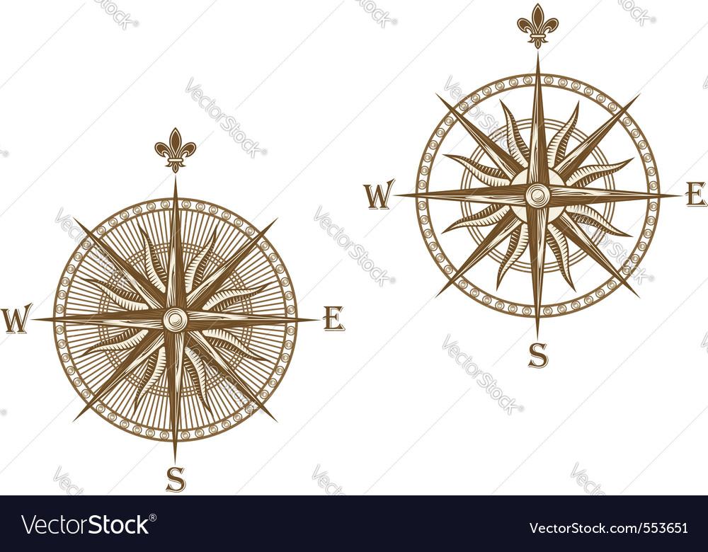 Ancient compass vector