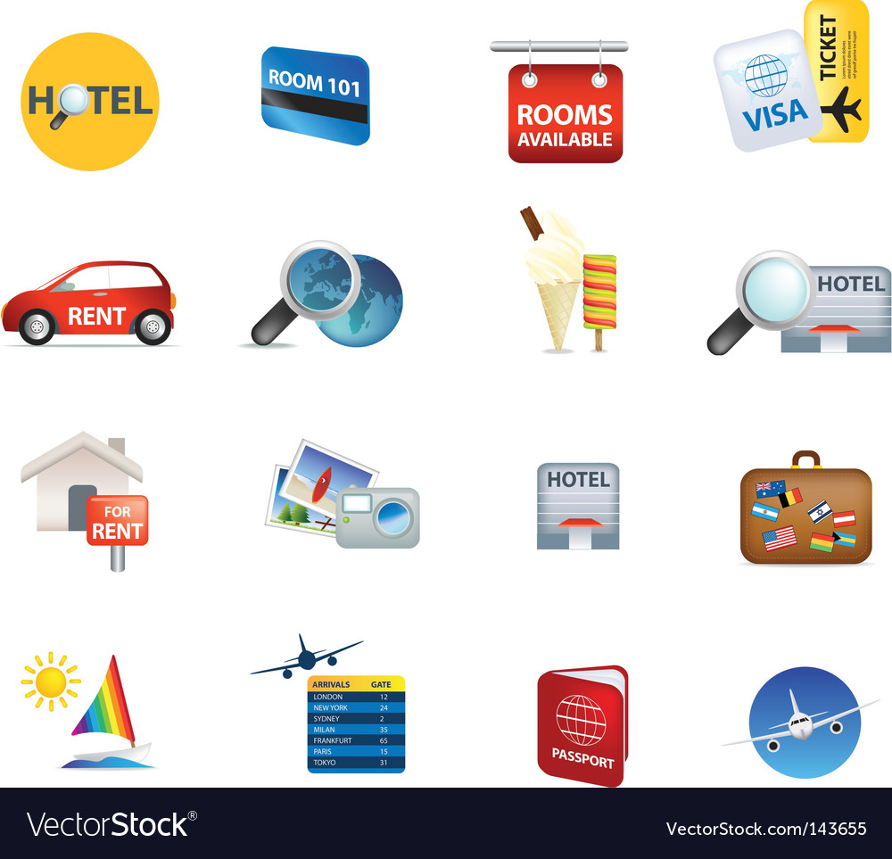 Global travel and holidays vector