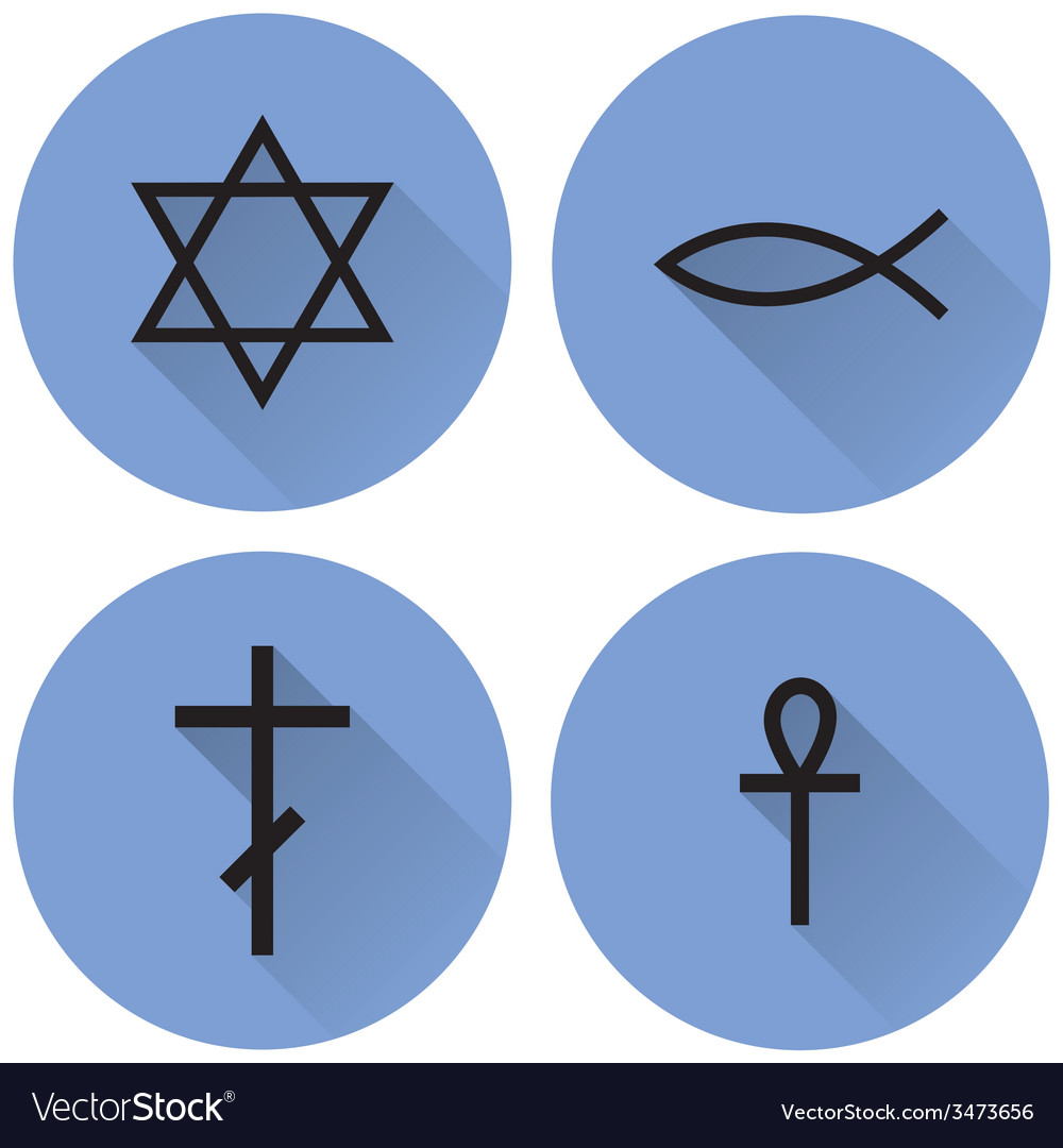 A small set of religious symbols vector