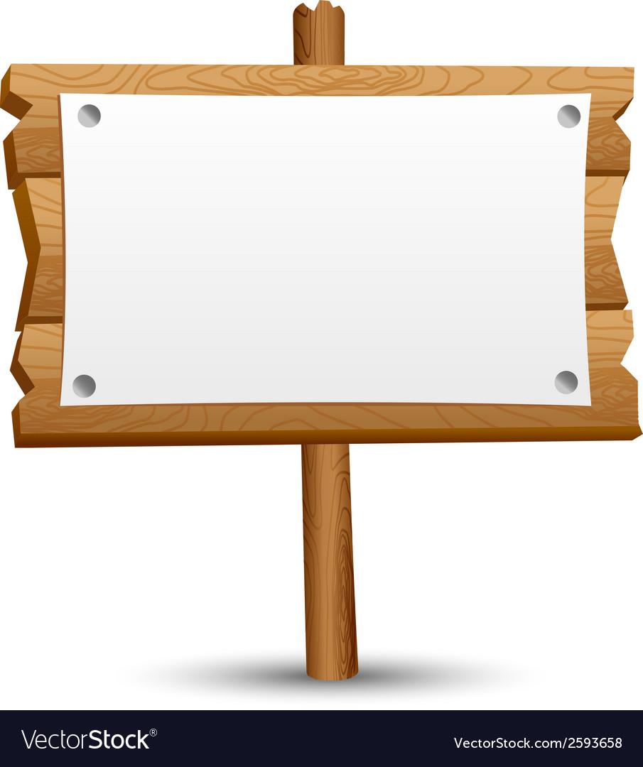 Wooden blank sign vector