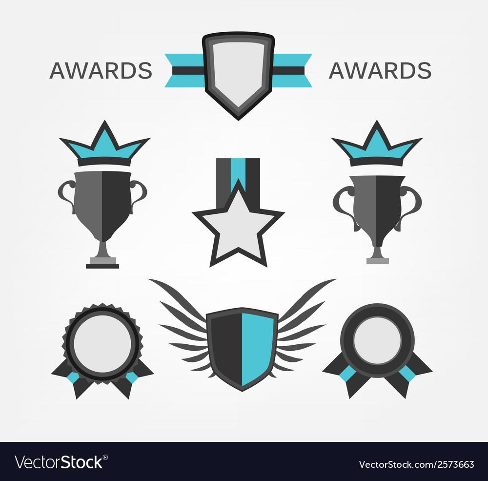 Award sign and symbol vector