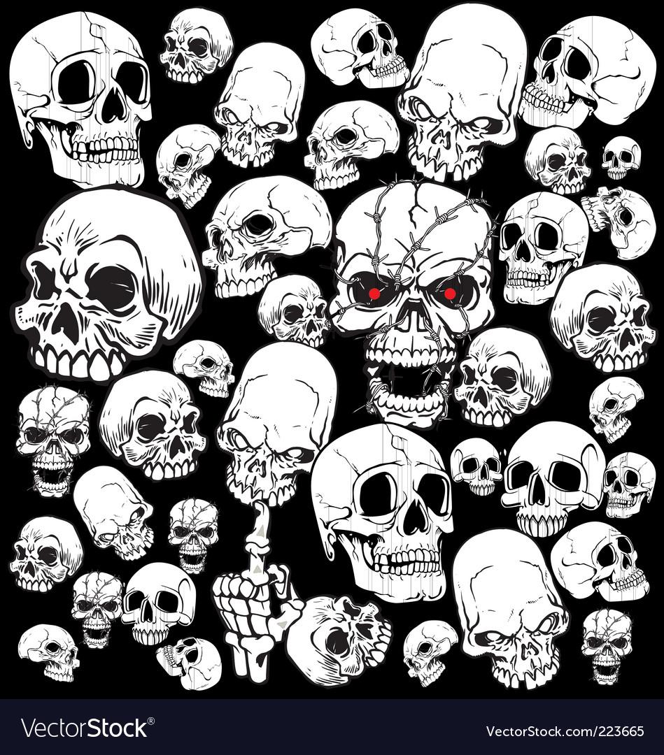 Skull tattoo wallpaper vector