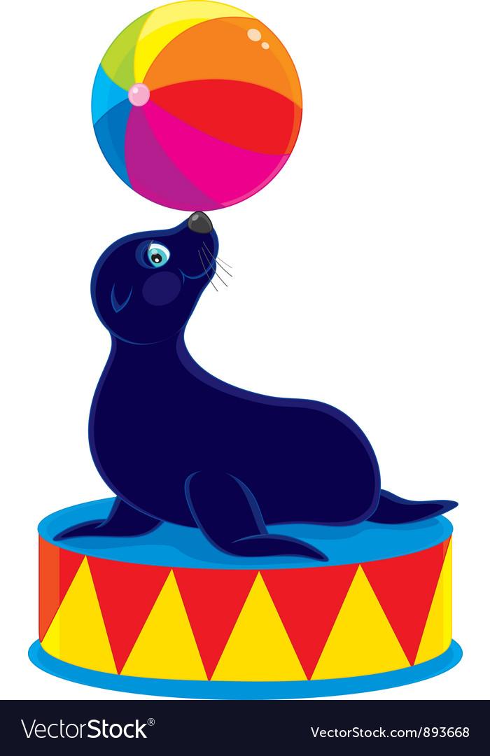 Circus sea bear vector