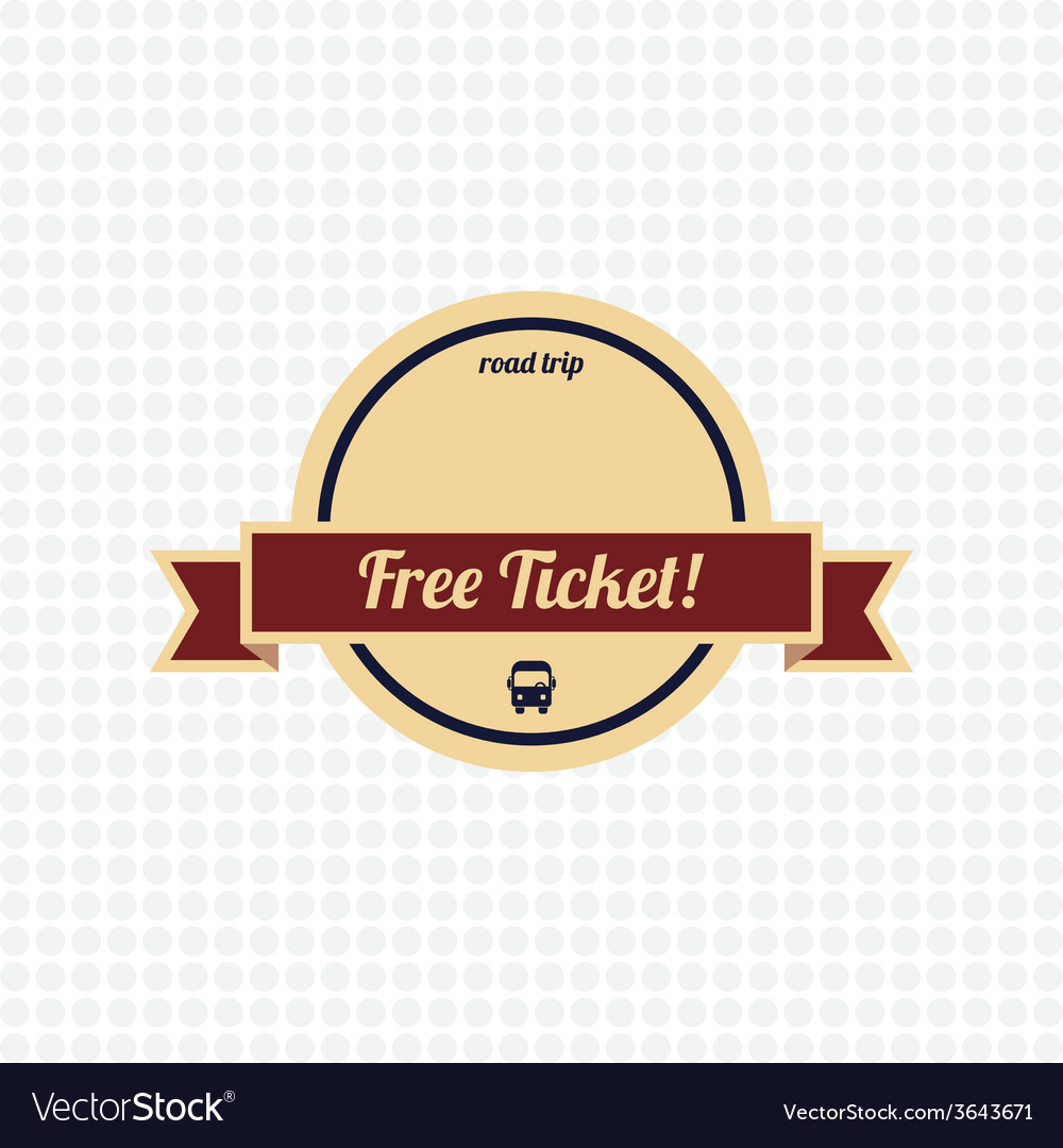 Free ticket label vector