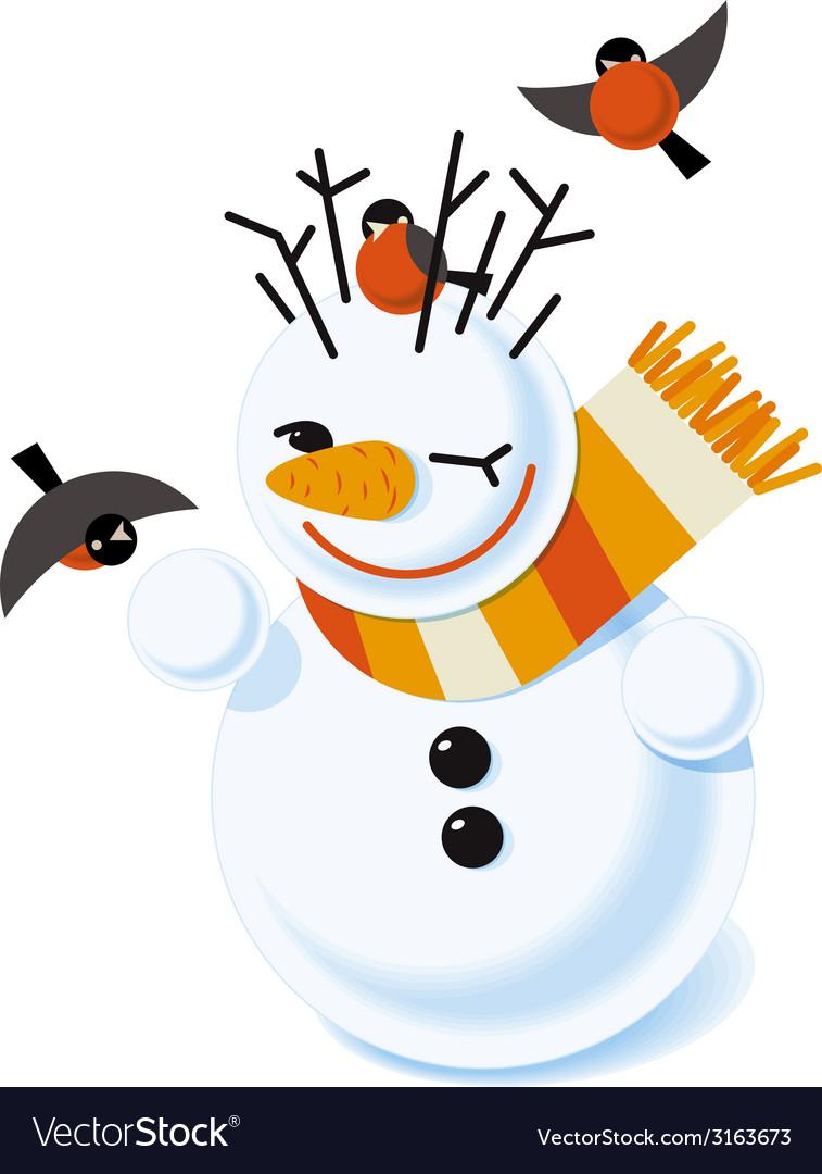 A snowman vector