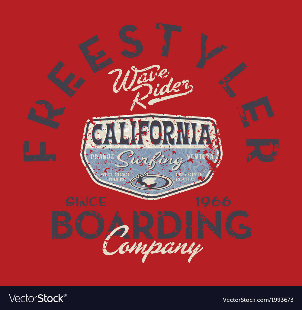 Freestyle surfing company vector