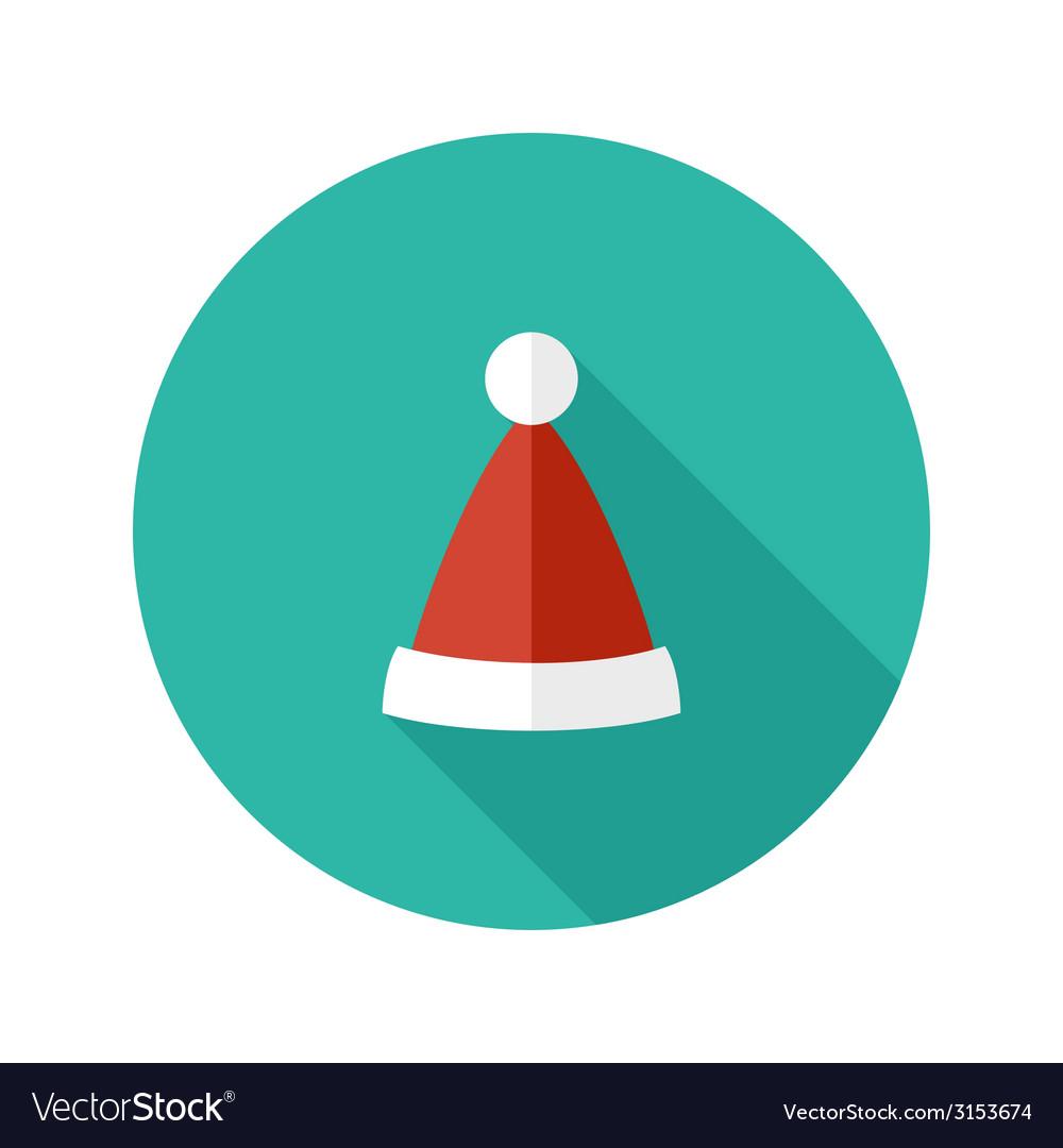 Christmas hat of santa claus flat icon vector