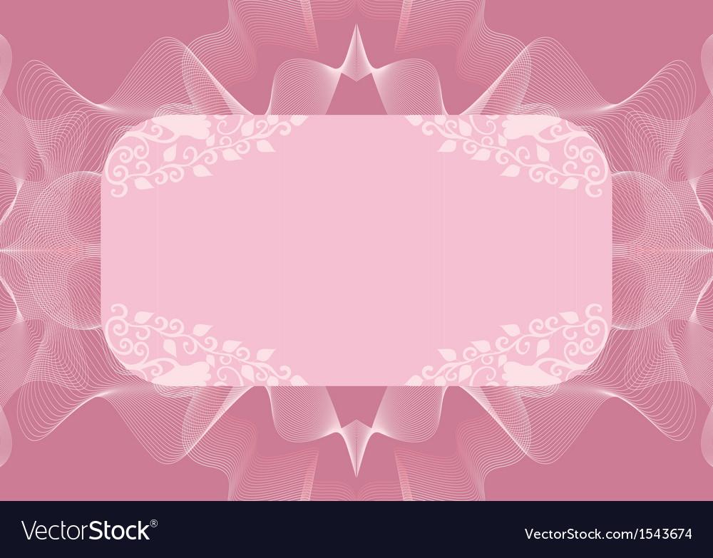 Lilac rectangular frame with decor vector