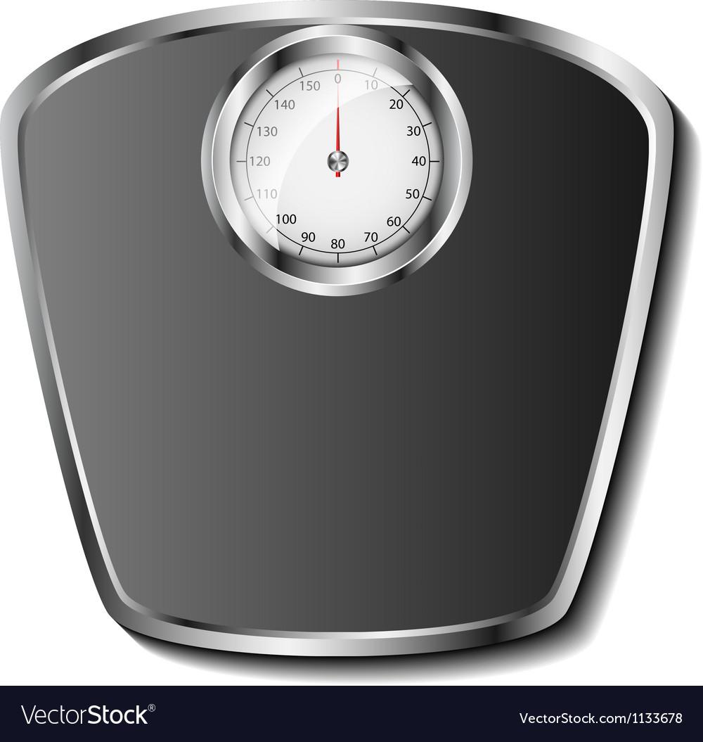 Bathroom scale vector