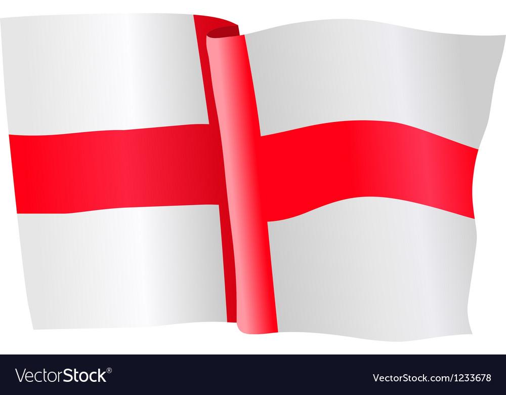 Flag of northern ireland vector