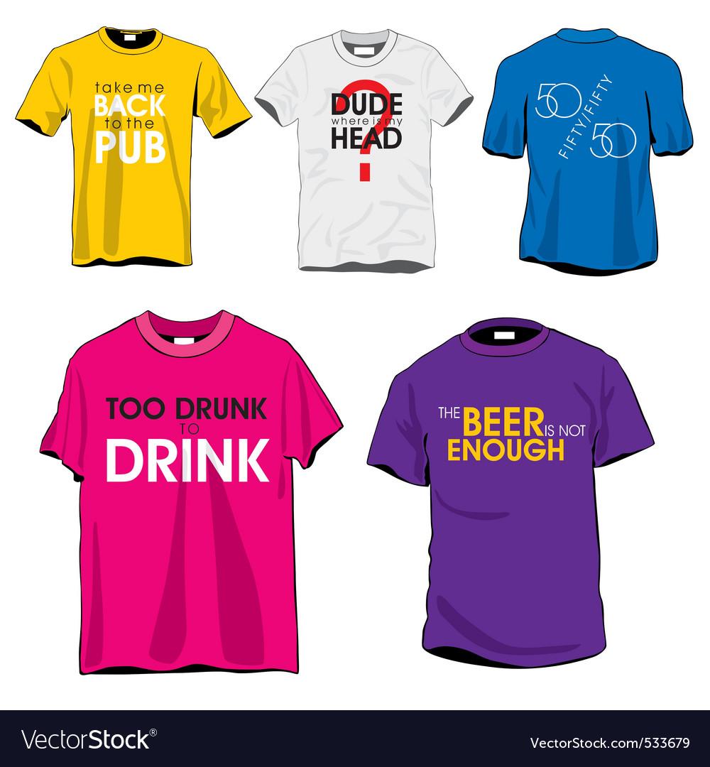 Fun tshirts vector