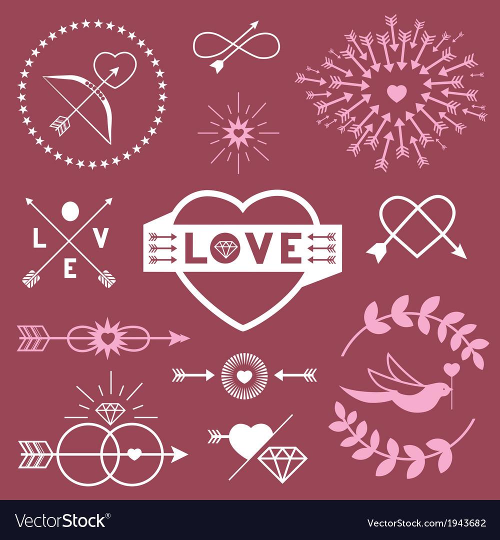 Romantic designs vector