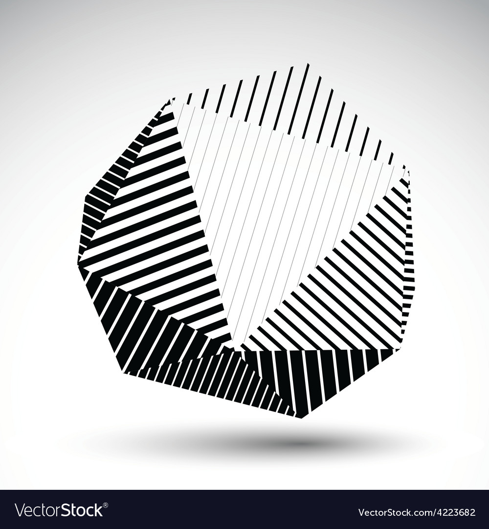 Symmetric spherical 3d technology futuristi vector