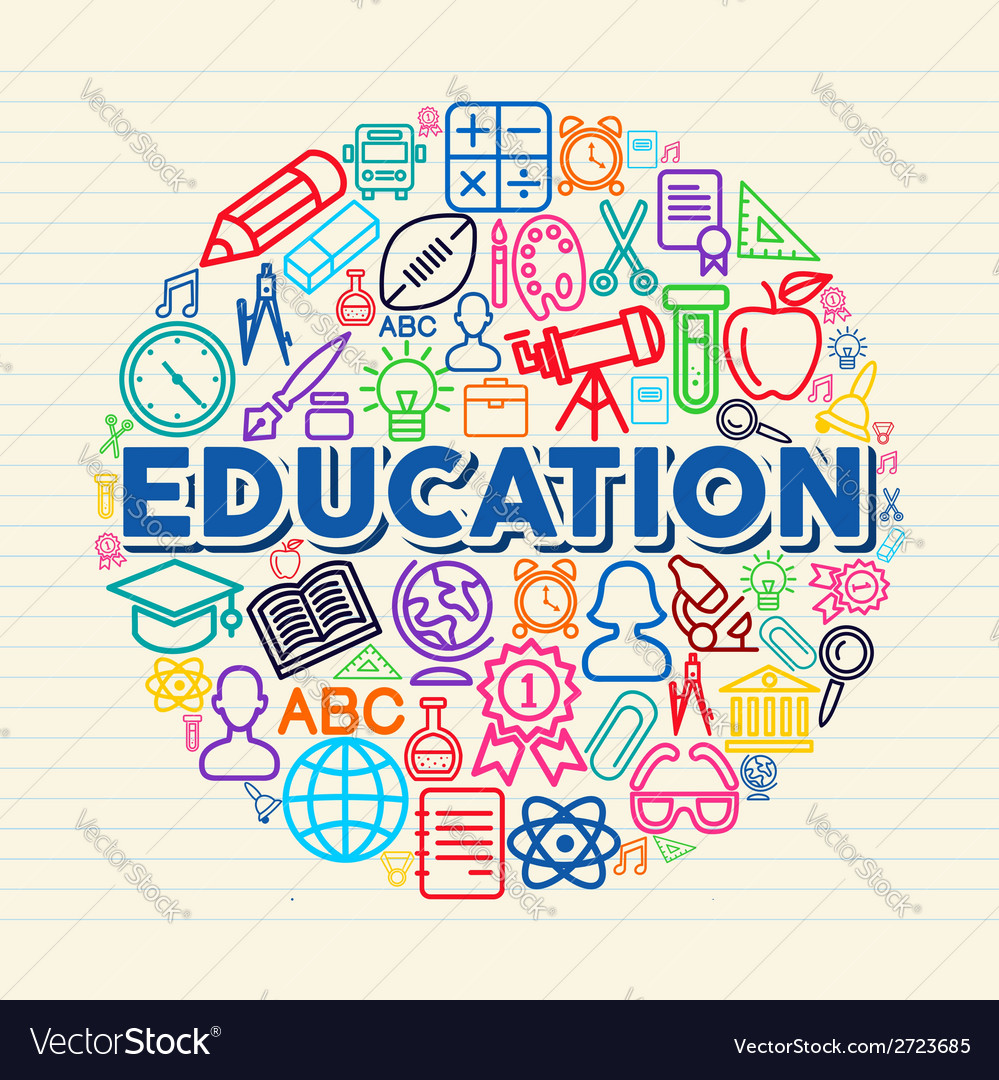 Education concept vector
