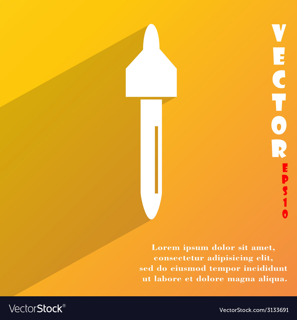 Dropper icon symbol flat modern web design with vector