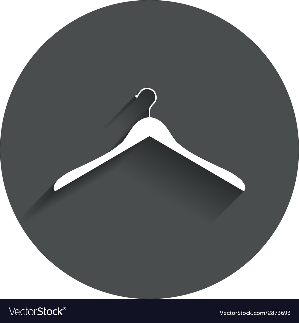 Hanger sign icon cloakroom symbol vector