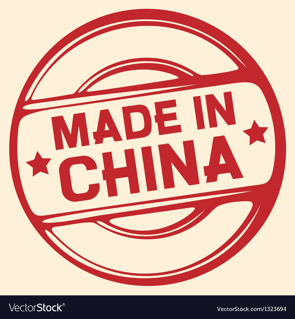Made in china stamp vector