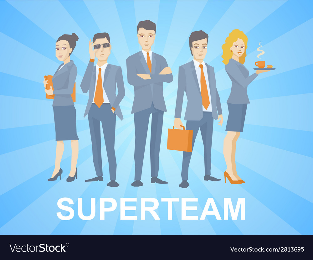 A super business team of young business p vector