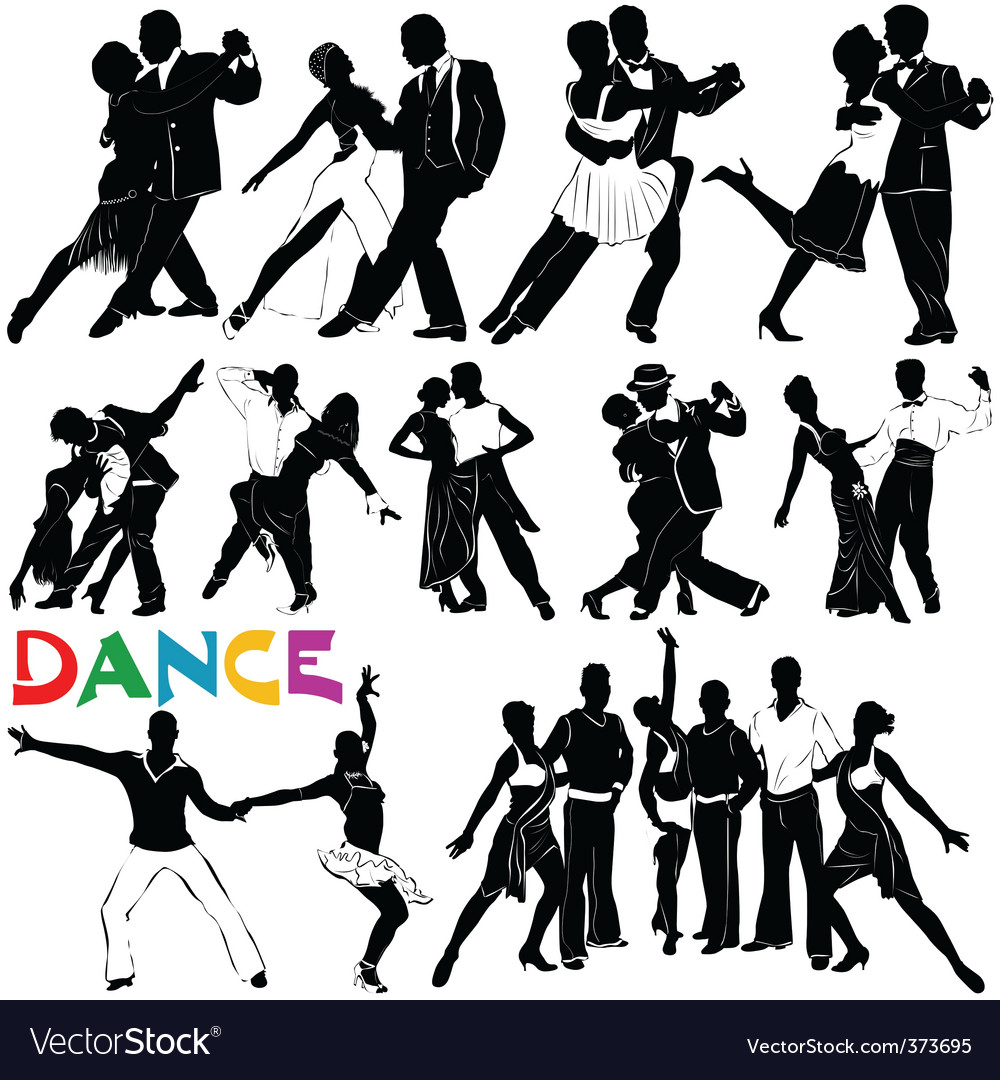 Dance clothes silhouette vector
