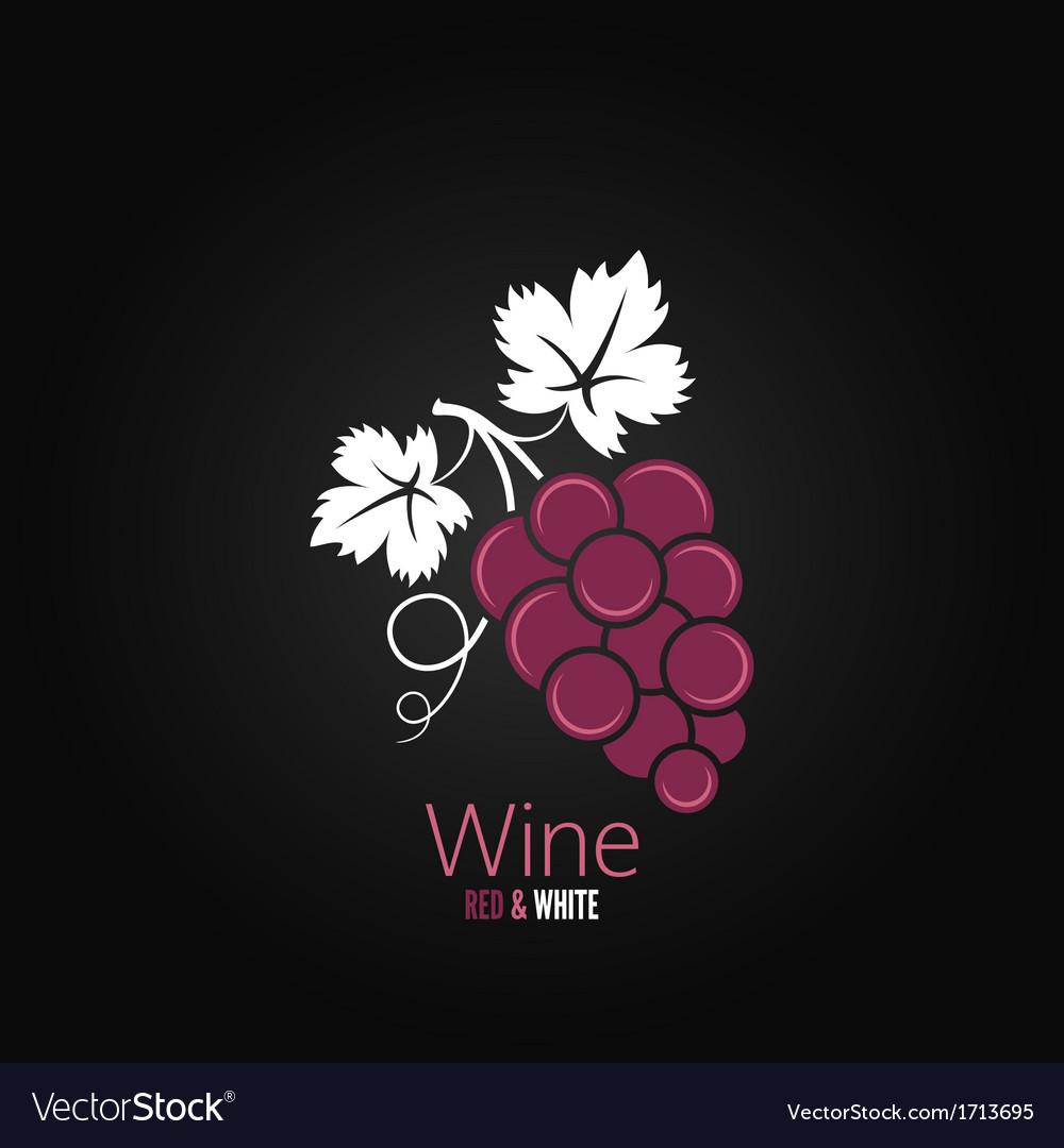 Wine grapes design background vector