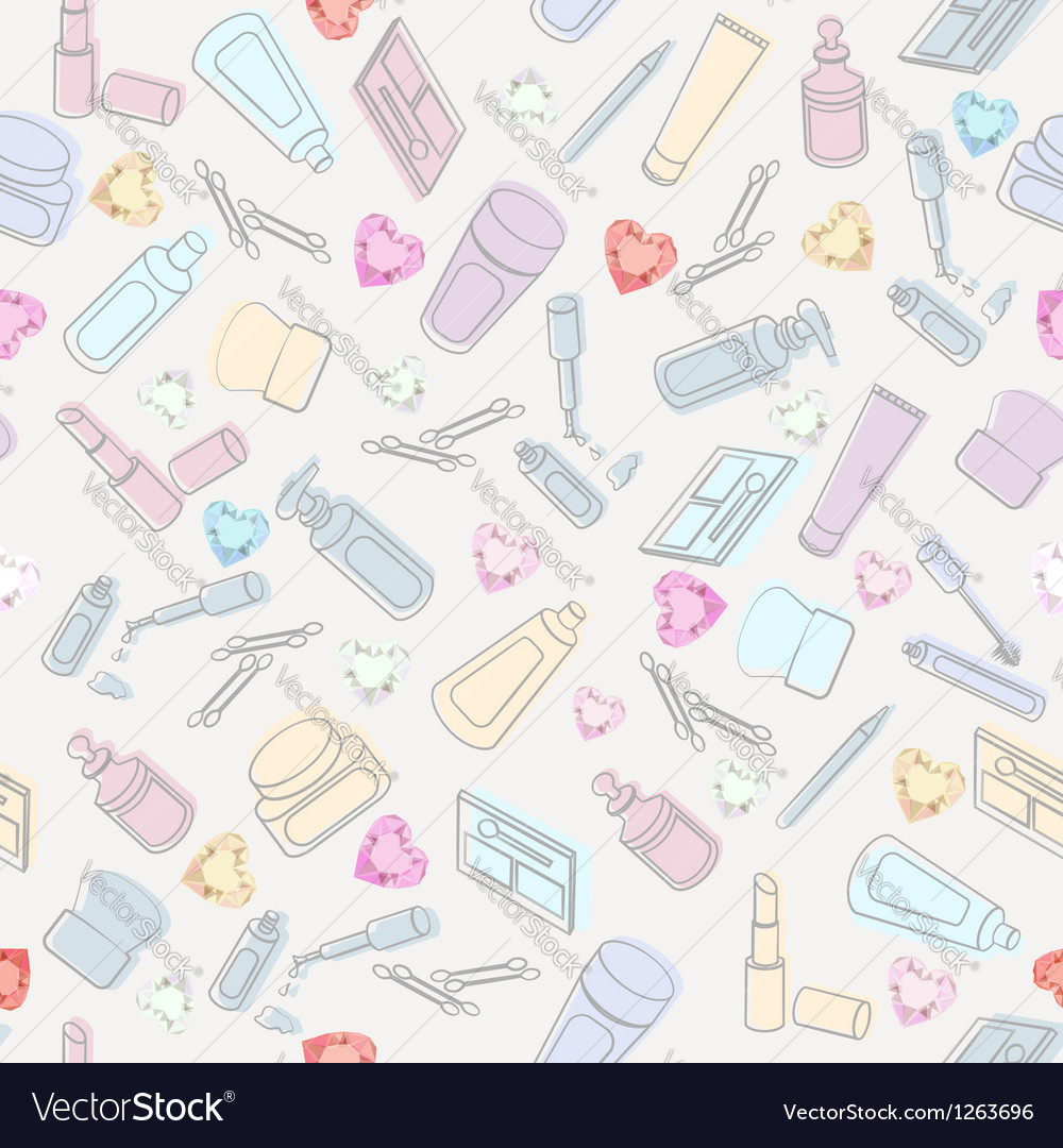 Cosmetics and beauty care vector