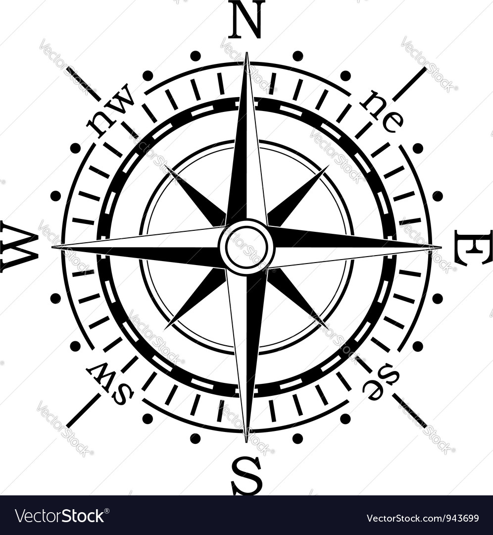 Black compass vector