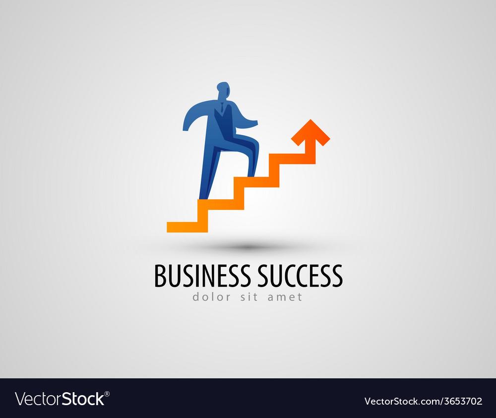 Business logo design template success or progress vector