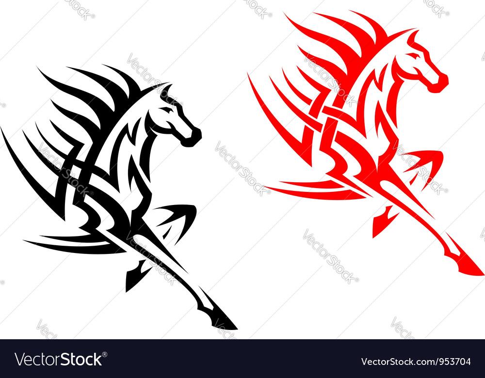 Tribal mustang stallion for mascot vector