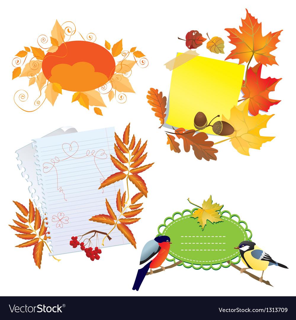 Autumn frames vector