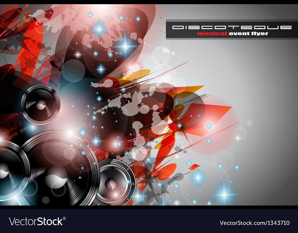 Music club background for disco dance vector