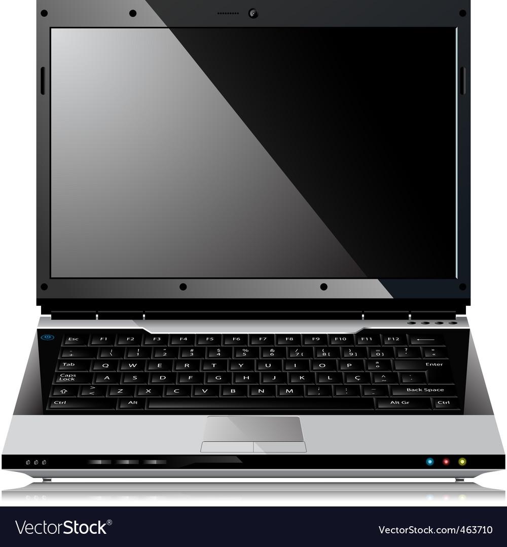 Shiny laptop vector