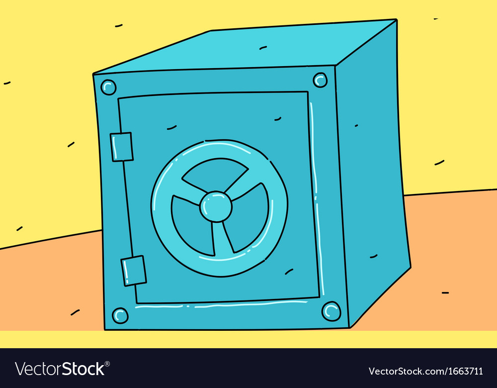 Iron safe vector