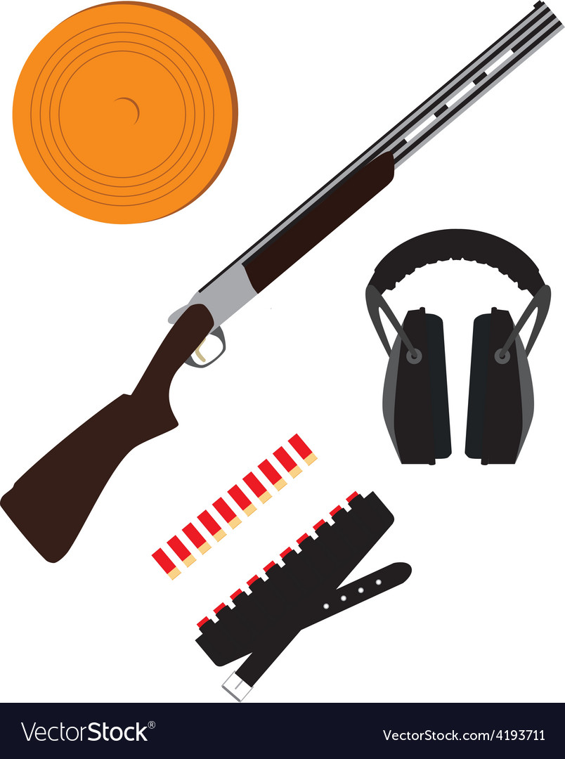 Skeet rifle headphones for shooting buckshot and vector
