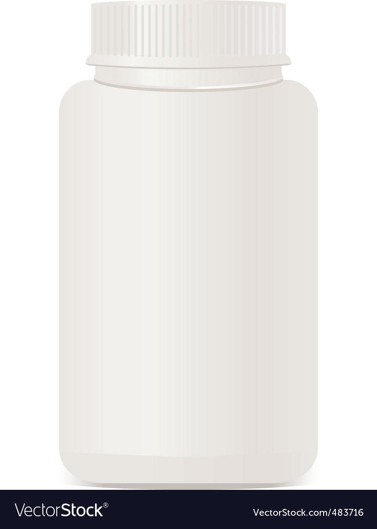 A white plastic bottle isolate vector