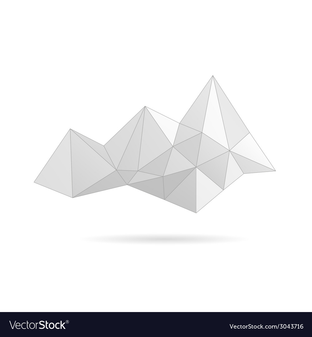 Mountain gray abstract vector