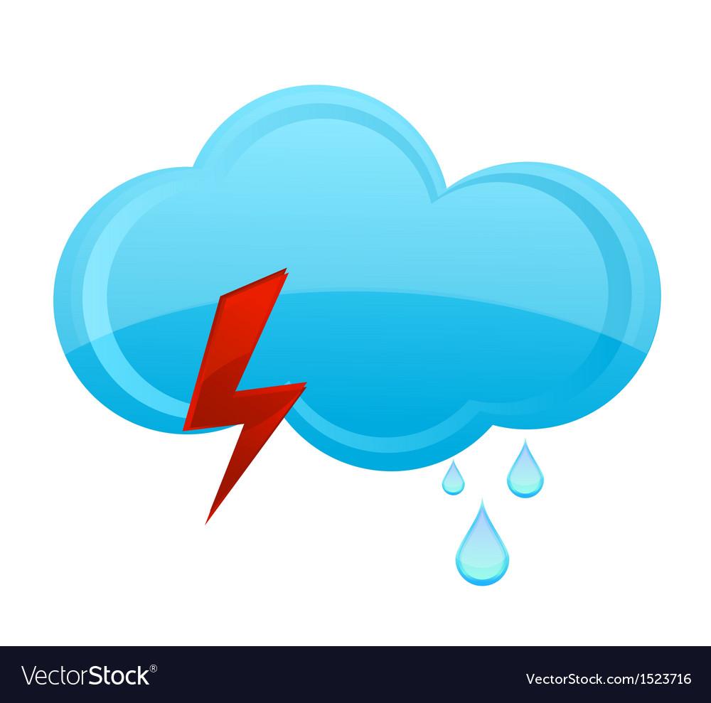 Nature rain cloud symbol blue color vector