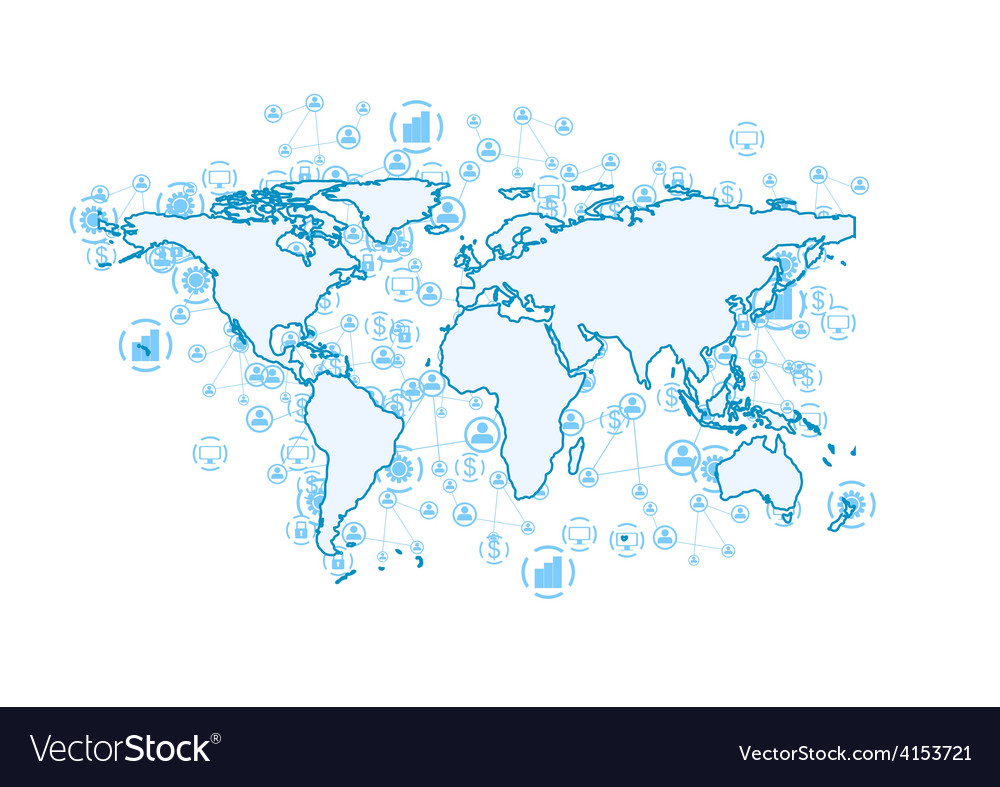 World communication abstract tech background vector
