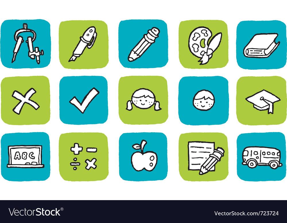 Icon education vector