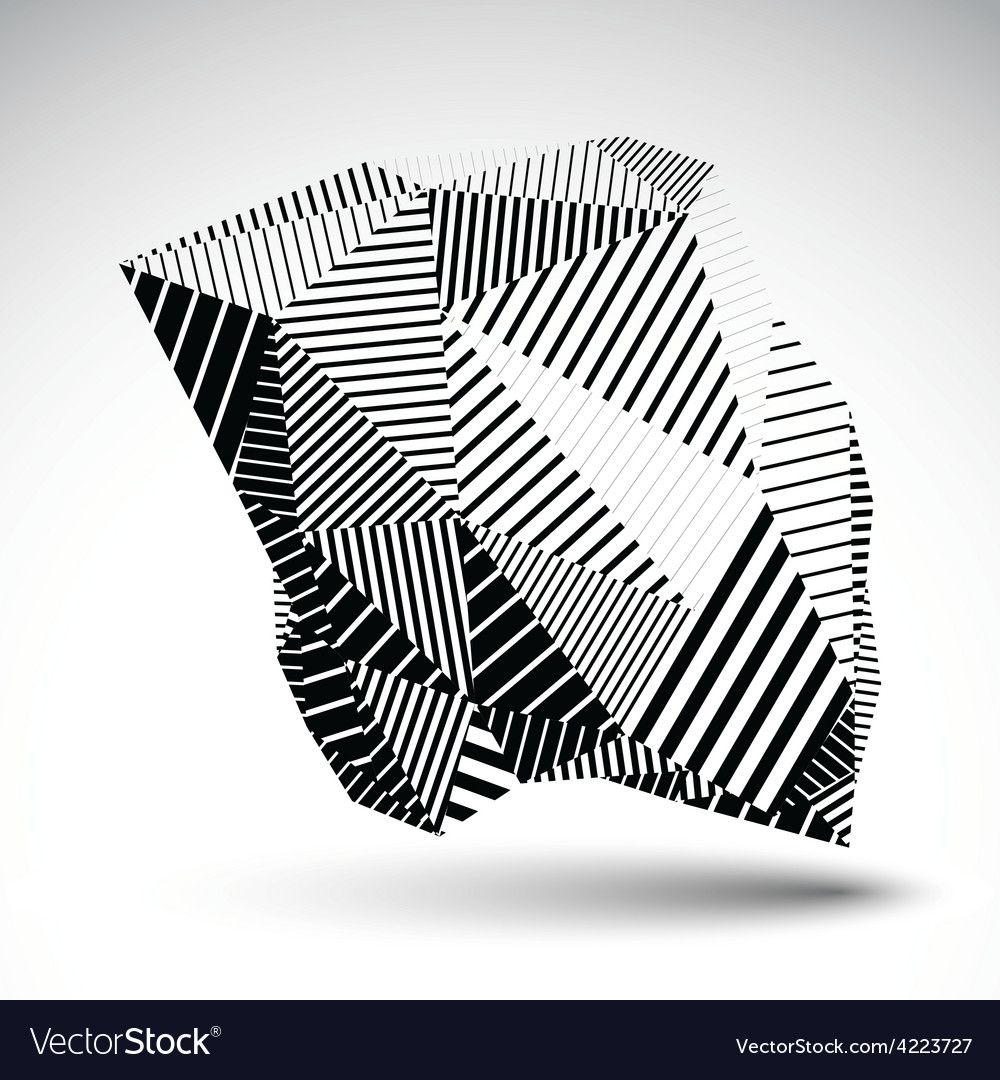 Geometric monochrome abstract 3d complicated vector