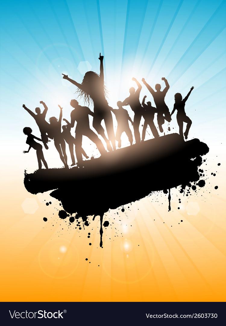 Grunge summer party vector