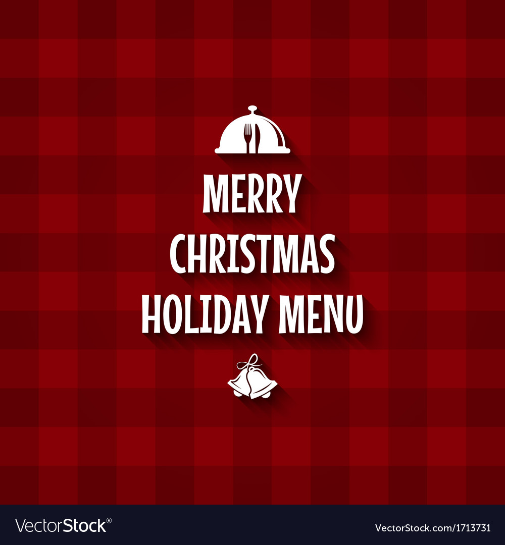 Christmas special menu design vector