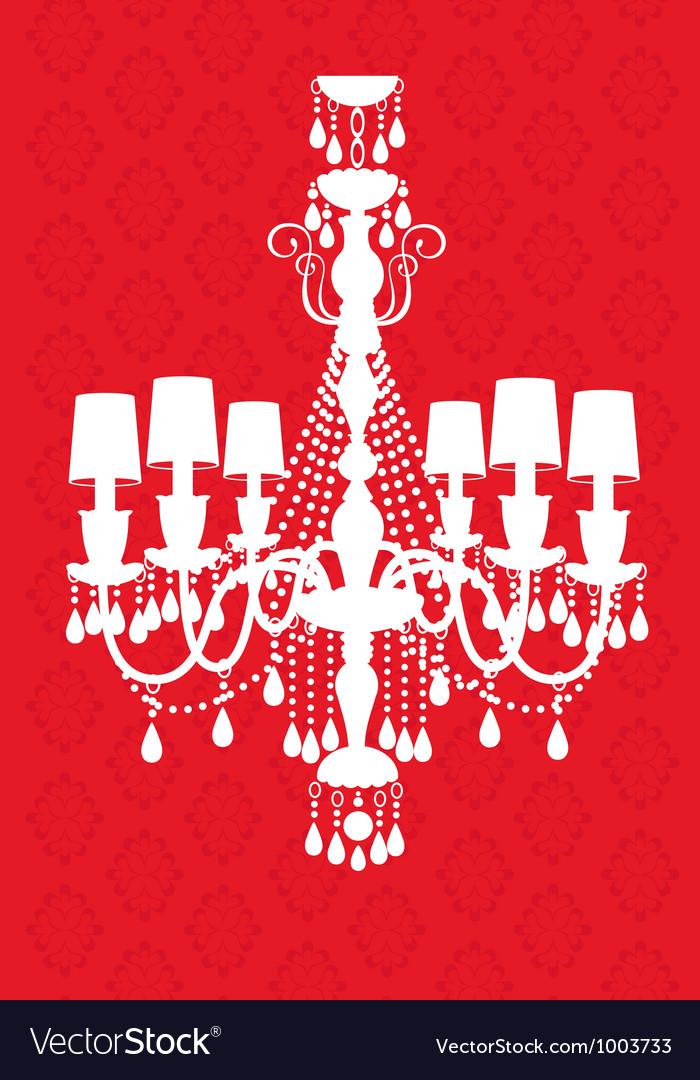 Luxury chandelier vector