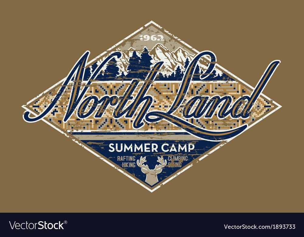 North land summer camp vector