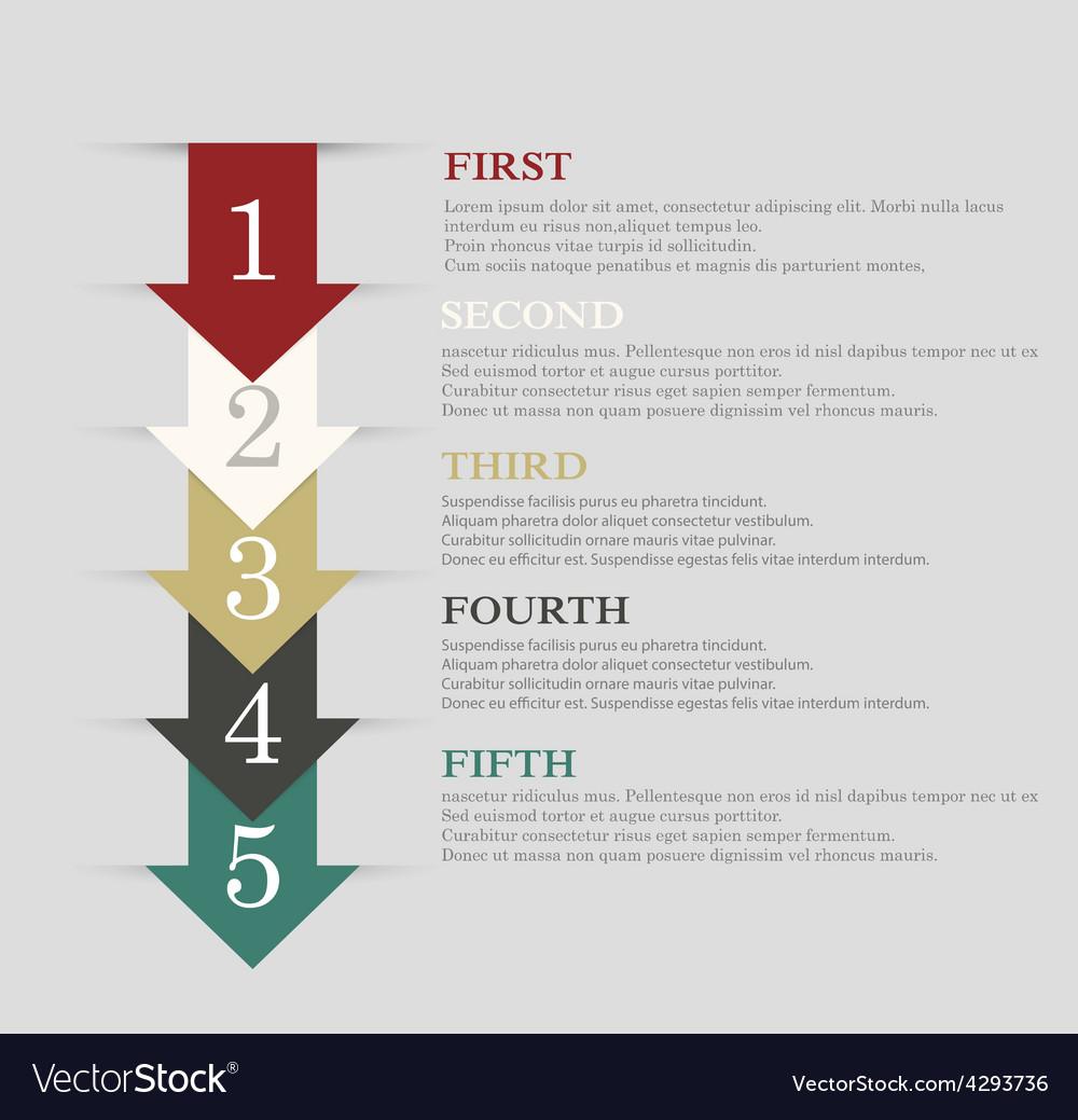 Info arrow step vector