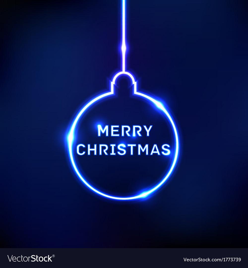 Abstract shine christmas ball card vector