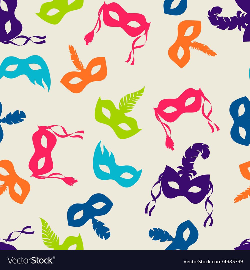 Celebration festive seamless pattern with carnival vector