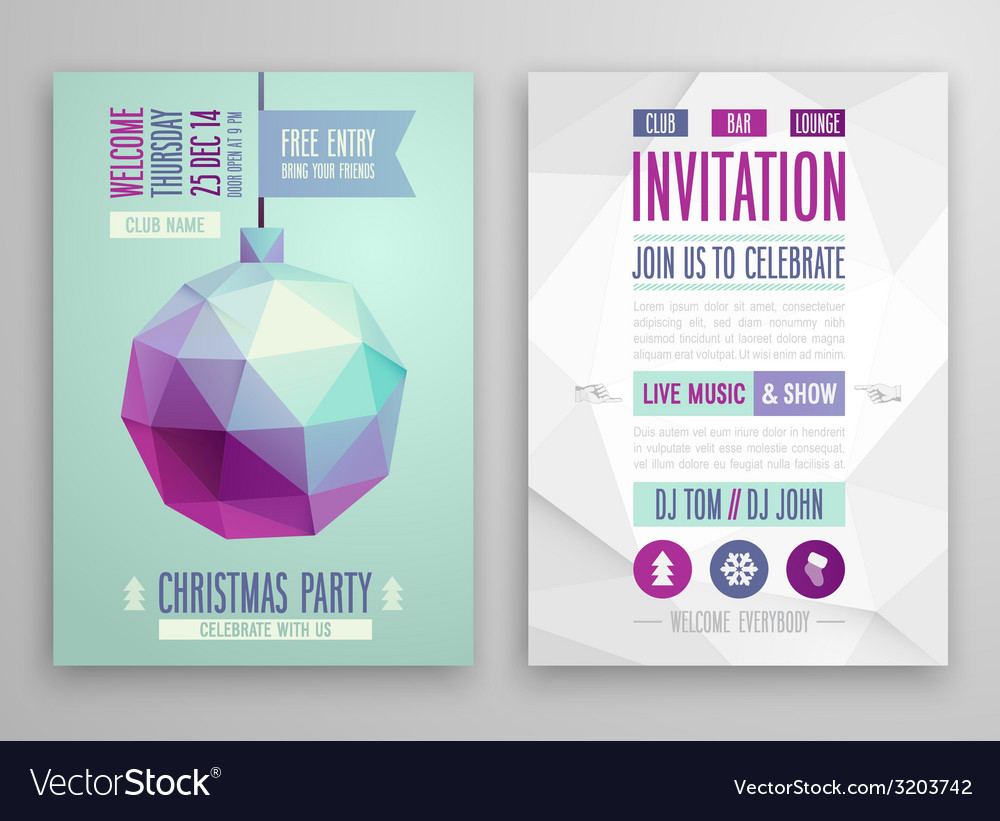 Christmas flyer vector