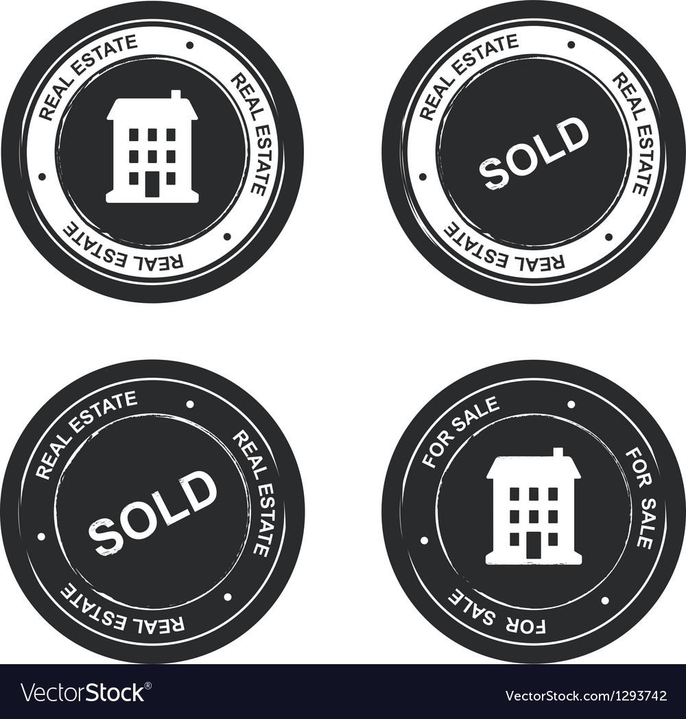 Set of real estate stamp vector