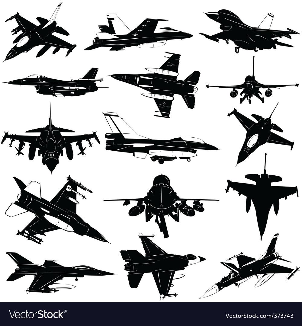 Military plane vector
